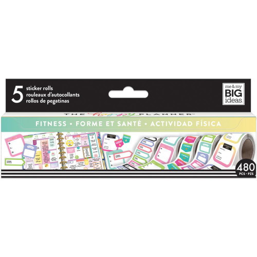 Me & My Big Ideas Happy Planner Sticker Roll - Fitness
