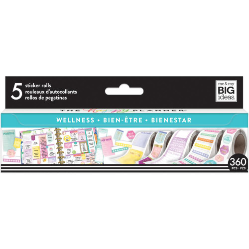 Me & My Big Ideas Happy Planner Sticker Roll - Wellness
