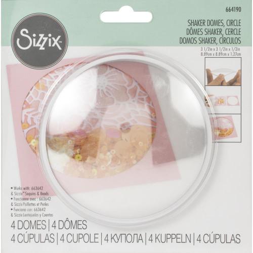 "Sizzix Making Essential Shaker Domes - Circle 3.5"", 4/Pkg"