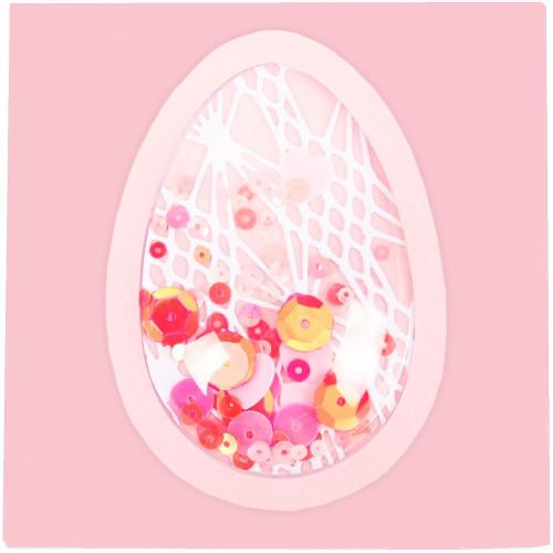 "Sizzix Making Essential Shaker Domes - Egg/Balloon 2""X3"", 6/Pkg"