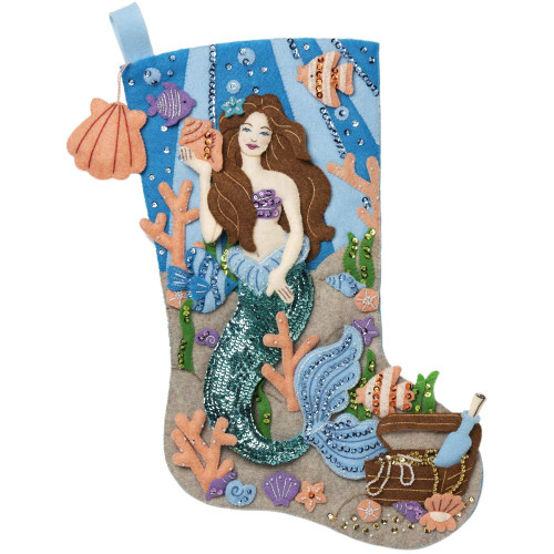 Bucilla Felt Stocking Applique Kit - Sea Princess