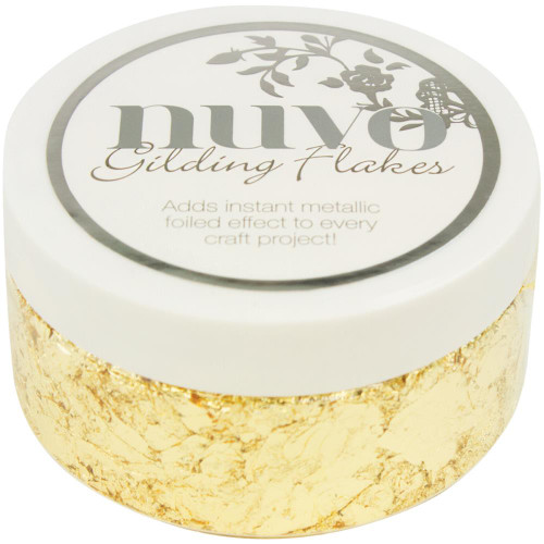 Nuvo Gilding Flakes 6.8oz - Radiant Gold