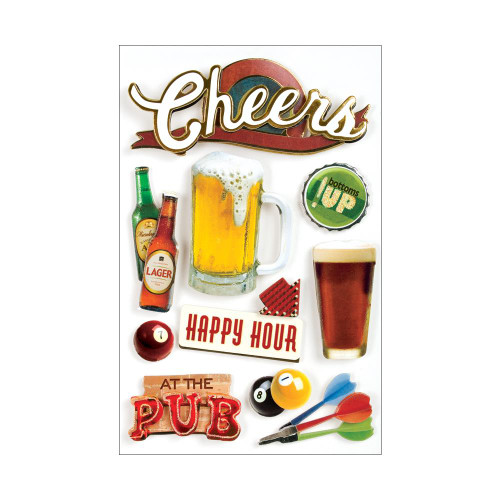 Paper House 3D Stickers - Cheers