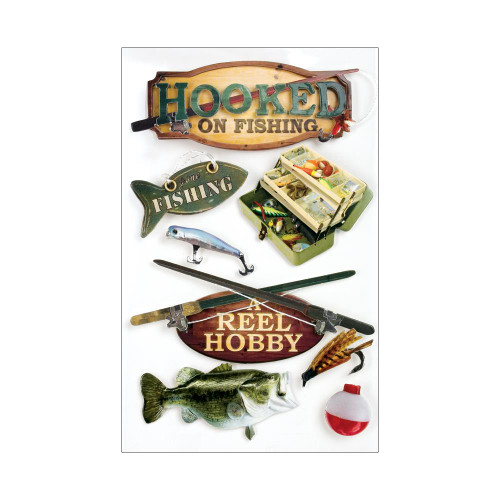 Paper House 3D Stickers - Hooked On Fishing