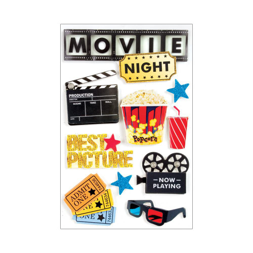 Paper House 3D Stickers - Movie Night