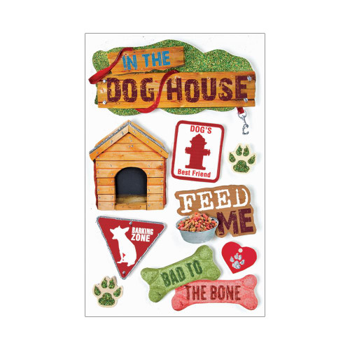 Paper House 3D Stickers - Dog
