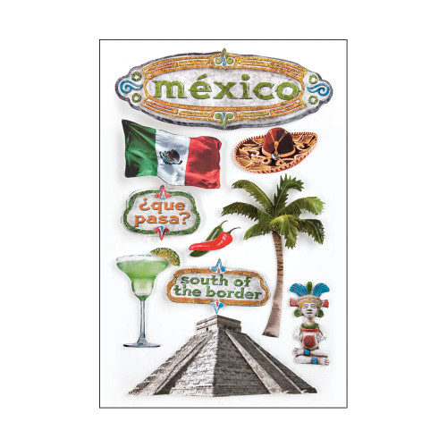 Paper House 3D Stickers - Mexico