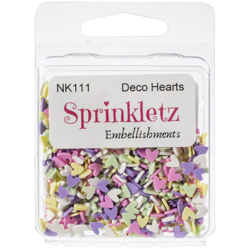 Buttons Galore Sprinkletz Embellishments 12g - Deco Hearts