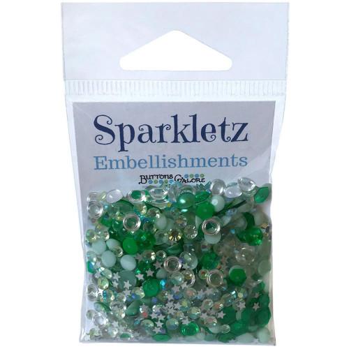 Buttons Galore Sparkletz Embellishment Pack 10g - Aquamarine