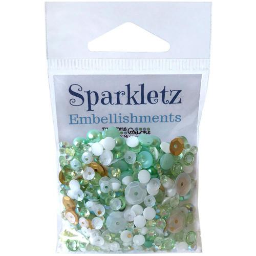 Buttons Galore Sparkletz Embellishment Pack 10g - Coconut Palms