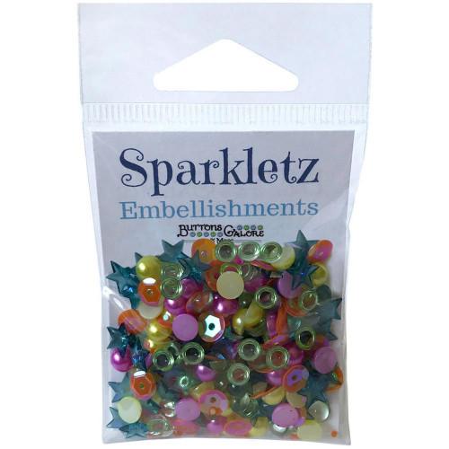 Buttons Galore Sparkletz Embellishment Pack 10g - Rainbow