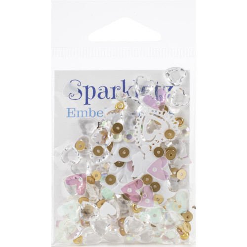 Buttons Galore Sparkletz Embellishment Pack 10g - Just Married