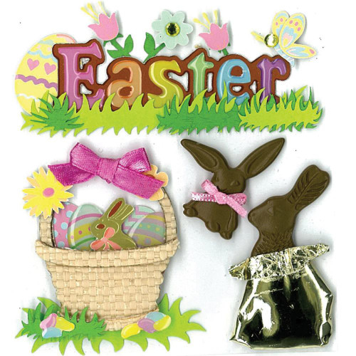 Jolee's Boutique Dimensional Stickers - Easter Chocolate Bunnies