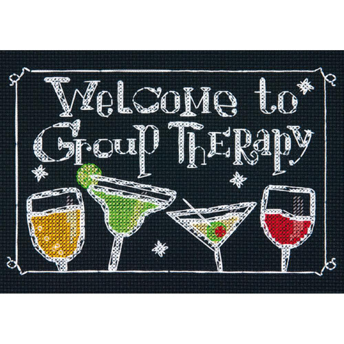 Dimensions Counted Cross Stitch Kit - Group Therapy