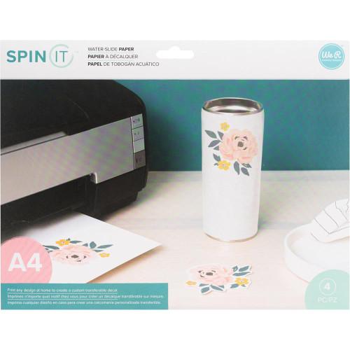 We R Memory Keepers Spin It Water Slide Paper 4/Pkg