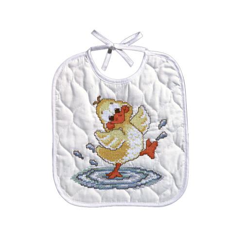 Janlynn Stamped Bib Cross Stitch Kit - Just Ducky