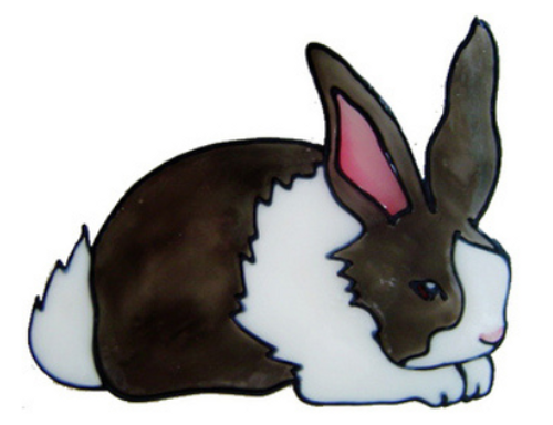 Faux Stained Glass Window Cling - Bunny Rabbit