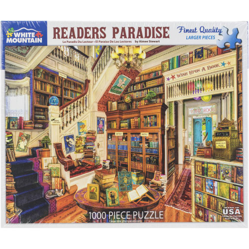 White Mountain 1000 Pc. Jigsaw Puzzle - Readers Paradise