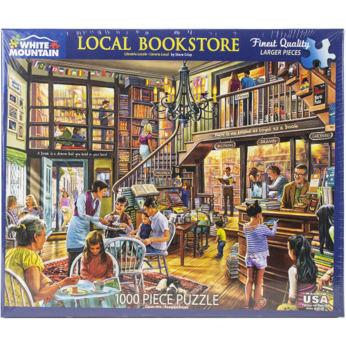 White Mountain 1000 Pc. Jigsaw Puzzle - Local Book Store