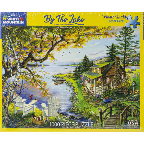 White Mountain 1000 Pc. Jigsaw Puzzle - By The Lake