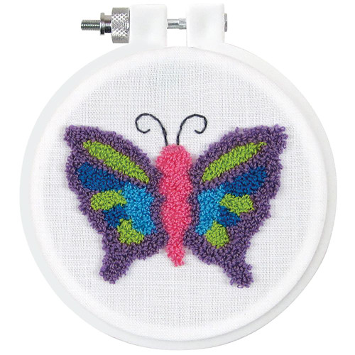 Design Works Punch Needle Kit - Butterfly