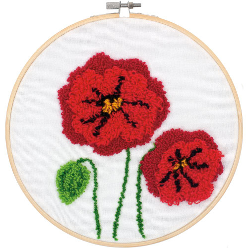 Dimensions Punch Needle Kit - Poppies