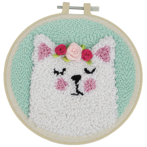 Fabric Editions Needle Creations Needle Punch Kit - Cat
