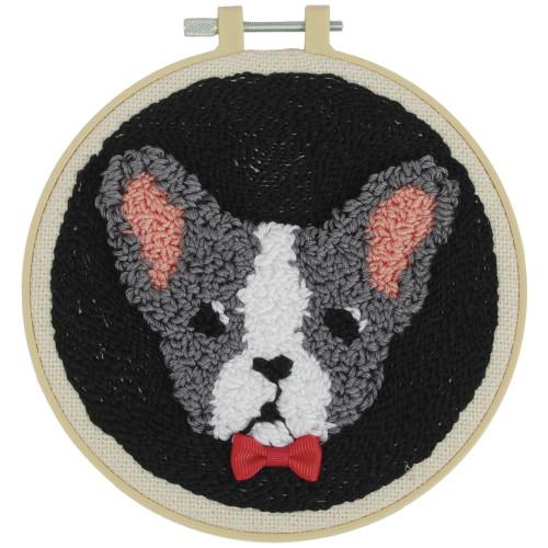 Fabric Editions Needle Creations Needle Punch Kit - Bulldog