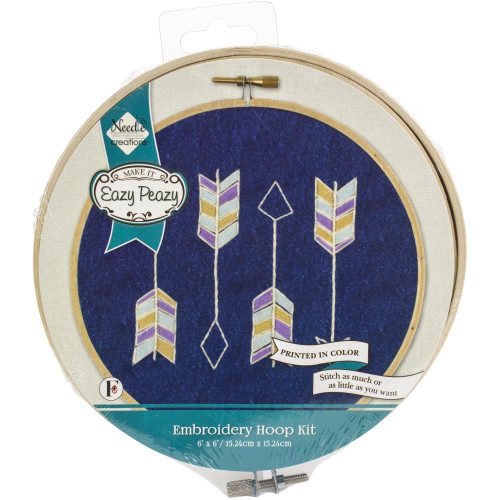 Needle Creations Easy Peasy Embroidery Kit - Arrows