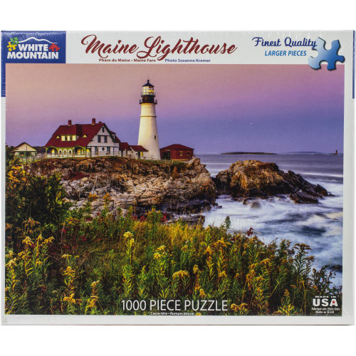 White Mountain 1000 Pc. Jigsaw Puzzle - Maine Lighthouse