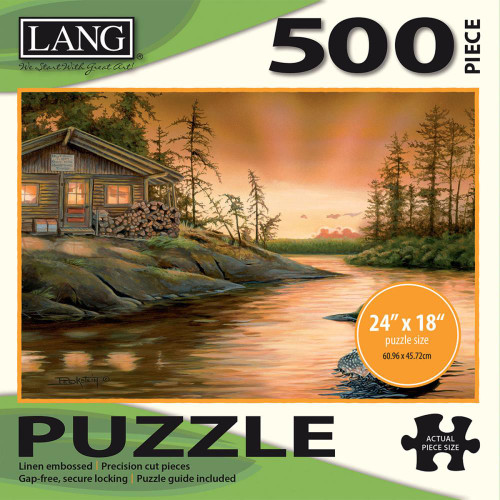 Lang Jigsaw Puzzle 500 Pc. - Cabin On The Narrows