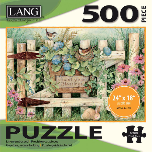 Lang Jigsaw Puzzle 500 Pc. - Garden Gate