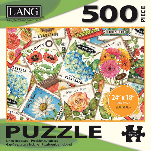 Lang Jigsaw Puzzle 500 Pc. - Seed Packets