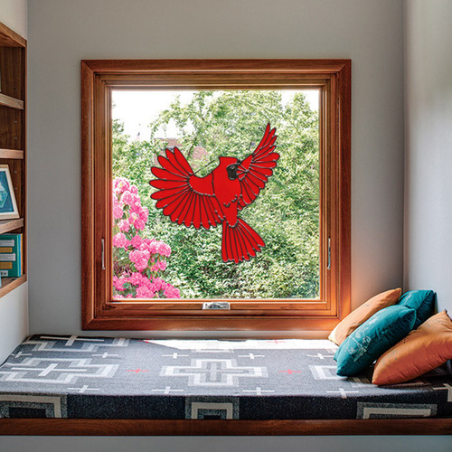 Cardinal Flying Window Cling