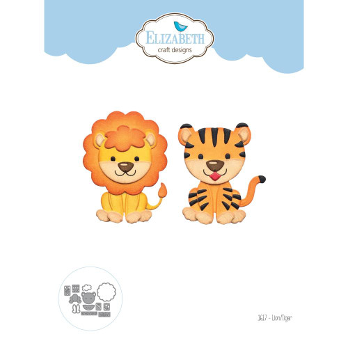 Elizabeth Craft Metal Die - Lion & Tiger