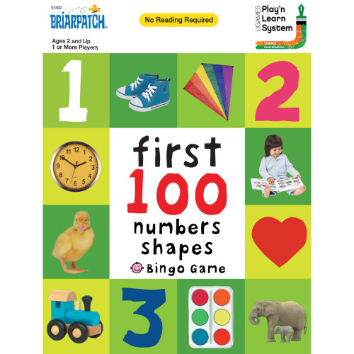 University Games First 100 Numbers, Colors And Shapes Bingo