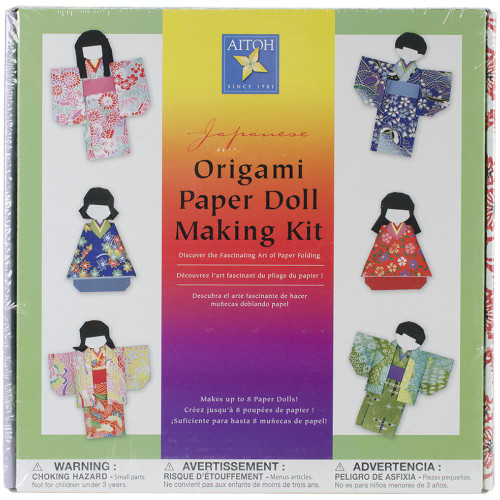 Aitoh Japanese Origami Paper Doll Making Kit