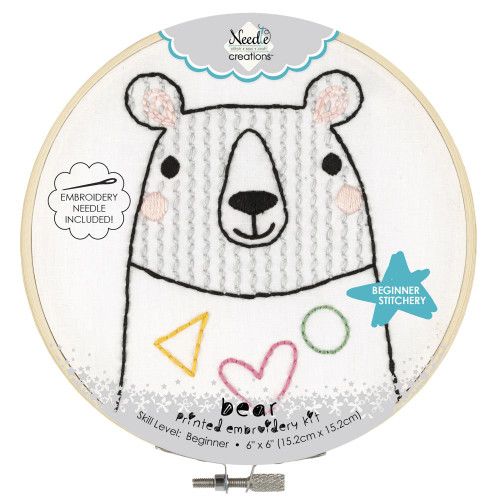 Fabric Editions Needle Creations Easy Stitch Kit - Bear