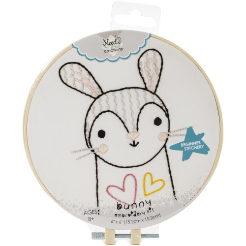 Fabric Editions Needle Creations Easy Stitch Kit - Bunny