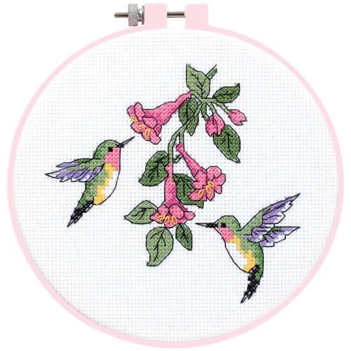 Dimensions/Learn-A-Craft Counted Cross Stitch Kit - Hummingbird Duo