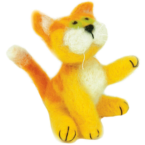 Dimensions Feltworks Needle Felting Kit - Yellow Cat