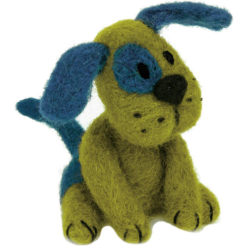 Dimensions Feltworks Needle Felting Kit - Green & Blue Dog