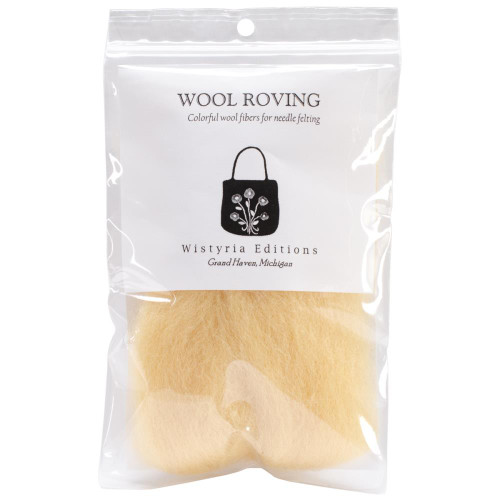 """Wistyria Editions Wool Roving 12"""" .22oz - Natural"""