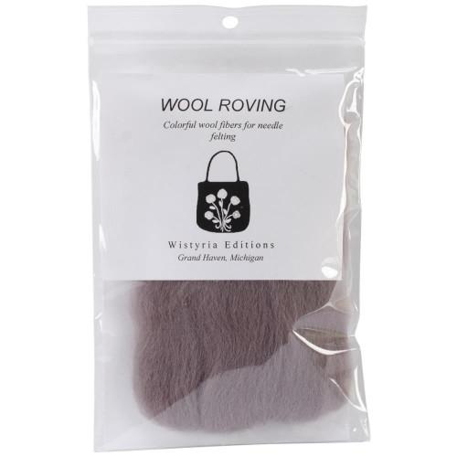 """Wistyria Editions Wool Roving 12"""" .22oz - Soft Grey"""