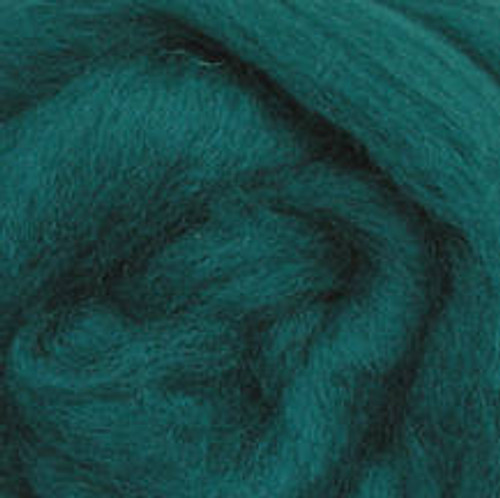 """Wistyria Editions Wool Roving 12"""" .22oz - Teal"""