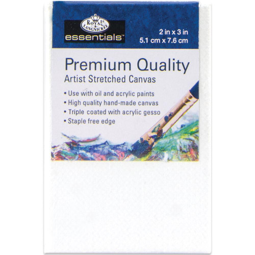 "essentials™ Premium Stretched Canvas - 2""x3"""
