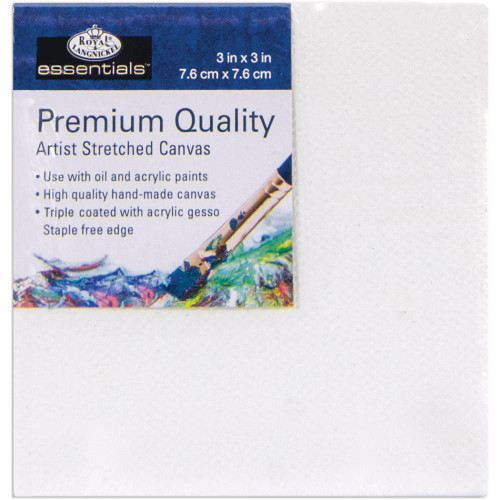 "essentials™ Premium Stretched Canvas - 3""x3"""