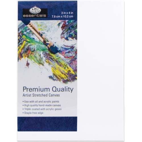 "essentials™ Premium Stretched Canvas - 3""x4"""
