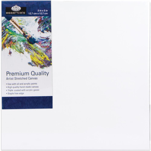 "essentials™ Premium Stretched Canvas - 5""x5"""