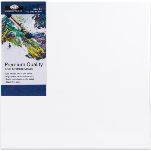 "essentials™ Premium Stretched Canvas - 6""x6"""